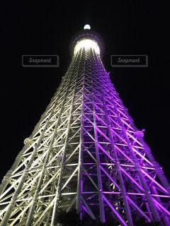 東京スカイツリー〜紫ver〜の写真・画像素材[3229349]