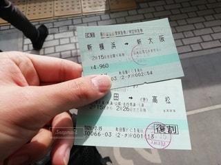 新幹線の切符の写真・画像素材[3224579]