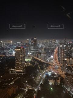 夜の都市の眺めの写真・画像素材[3225739]