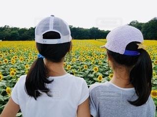 帽子をかぶった人の写真・画像素材[3379193]