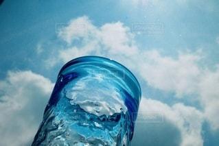 青空とブルーグラスの写真・画像素材[3563816]