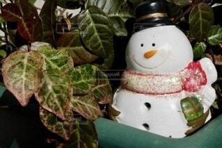 雪だるまの飾りの写真・画像素材[3868443]