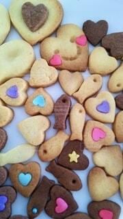 たくさんのクッキーの写真・画像素材[4134760]