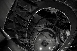 螺旋階段の写真・画像素材[3236327]