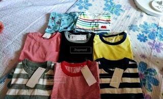 赤ちゃん夏服の写真・画像素材[3359885]