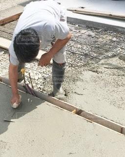 コンクリートをキレイに伸ばすの写真・画像素材[3350822]
