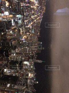 シカゴの夜景の写真・画像素材[3231101]