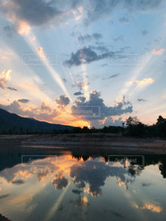 空の雲の群の写真・画像素材[3235139]
