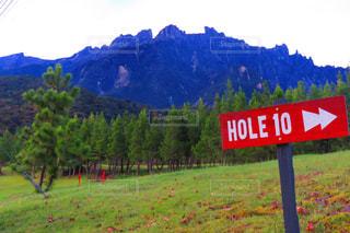 10番ホールとキナバル山の写真・画像素材[3239475]