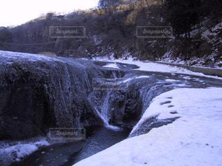 吹割の滝イン冬の写真・画像素材[1226684]