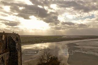 モンサンミッシェルからの風景の写真・画像素材[3247501]