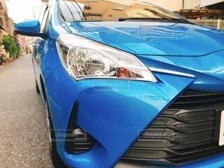 青い車の写真・画像素材[4057669]