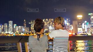 香港の都会に疲れ香港の綺麗な夜景に癒されるの写真・画像素材[2382021]