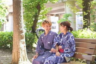夏先取り浴衣〜の写真・画像素材[3236454]