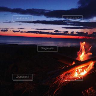 早朝の海の写真・画像素材[3257319]