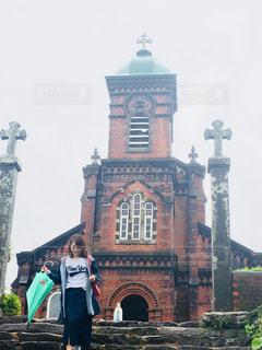 雨上がりの教会の写真・画像素材[1196309]