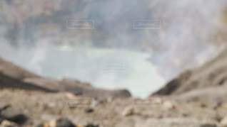 火口見学の写真・画像素材[3388733]