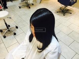 ヘアカラー後の艶髪の写真・画像素材[3382661]