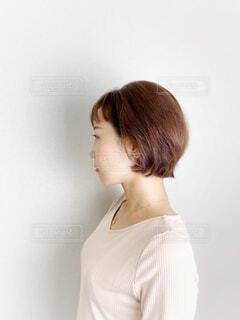 サイドヘアスタイルの写真・画像素材[3788763]