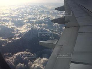 飛行機から見た富士山の写真・画像素材[3274373]