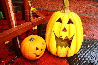 ハロウィンのオバケかぼちゃの写真・画像素材[3767053]