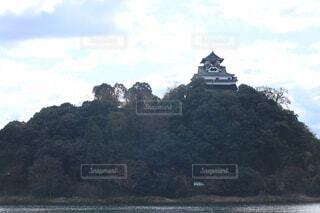 山の上に立つ、国宝犬山城の写真・画像素材[3970020]