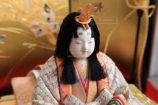 雛飾りのお雛様のアップの写真・画像素材[4169037]