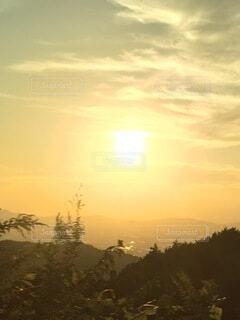 山の夕暮れの写真・画像素材[3818611]