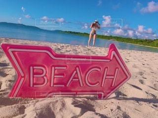 プライベートビーチの写真・画像素材[3285826]