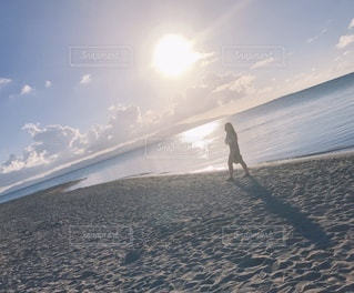 砂浜の写真・画像素材[3376193]