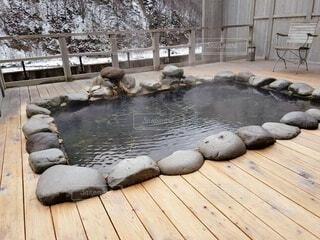 貸切露天風呂の写真・画像素材[4170365]