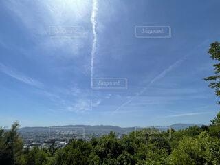 昇り竜のような雲と広い空の写真・画像素材[4392006]