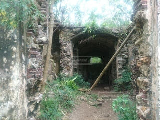 石造りの建物の廃墟の写真・画像素材[3287500]