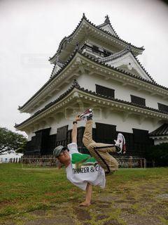 館山城にての写真・画像素材[3288517]