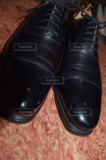 黒い革の靴の写真・画像素材[3291297]