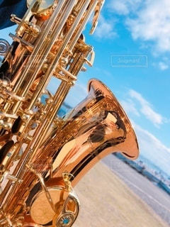 楽器のクローズアップの写真・画像素材[3293714]