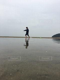 父母ケ浜で空手の写真・画像素材[3293620]
