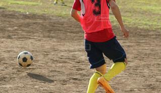 サッカーの練習の写真・画像素材[3624937]