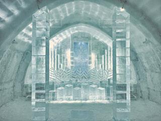 氷の建物の写真・画像素材[4140351]