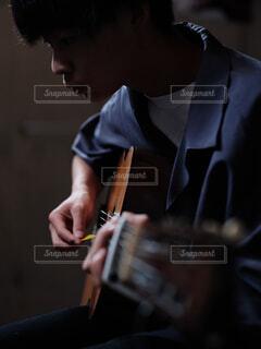 ギターの練習の写真・画像素材[4545438]