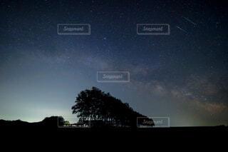 天の川の写真・画像素材[4569446]