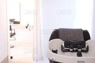 美容室のシャンプーブースの写真・画像素材[3399860]