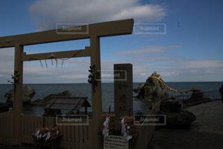 ビーチ上の標識の写真・画像素材[972470]