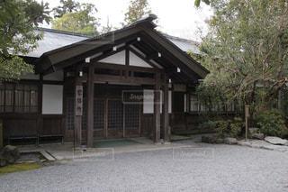 背景の木と家の写真・画像素材[972502]