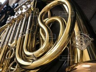 楽器のクローズアップの写真・画像素材[3302931]