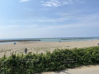 海岸を散歩する人の写真・画像素材[3366645]