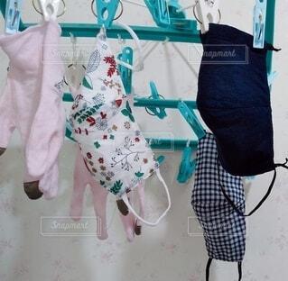 布マスク 手洗い。の写真・画像素材[4063773]
