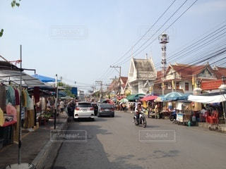 海外の青空市場の写真・画像素材[3317441]