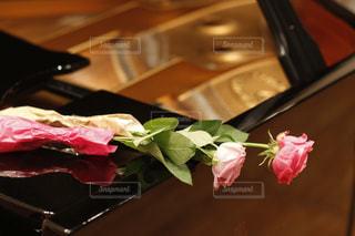 ピアノの上のバラの写真・画像素材[1720266]