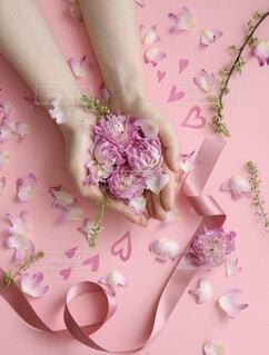 ピンクの花の女の子の写真・画像素材[4101022]